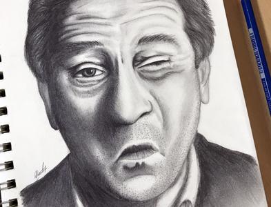 Pencil Sketch - Robert Di Niro