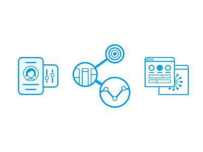 Infrastructure App Illustrations illustration dashboard analytics metrics benchmark preferences user icon