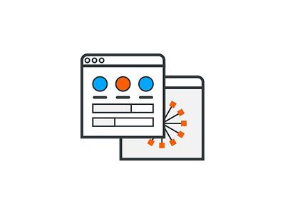 Management chart dashboard icon illustration