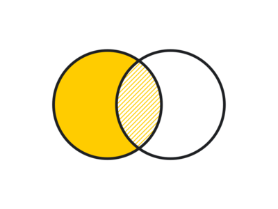 Venn black yellow diagram ven