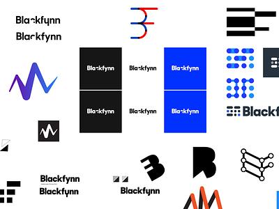 Brand Explorations messy branding artboard logo