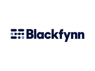 Blackfynn Logo sharp sans display connecting dots branding identity logo
