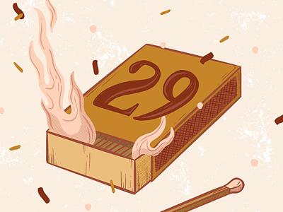 29th Birthday Illustration