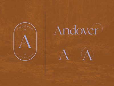 Andover at Johns Creek typography logo branding