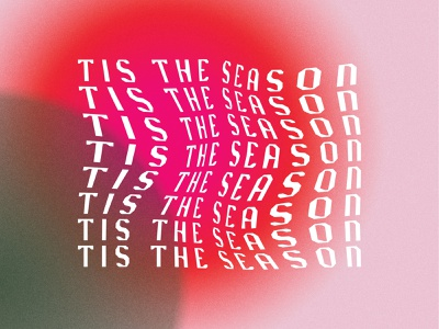 Tis The Season christmas holiday typography