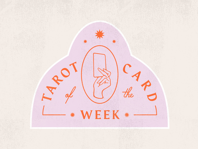 Tarot Card of the Week design branding badges badge design logo typography badge