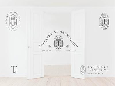 Tapestry at Brentwood badge badge design brand identity typography logo design branding