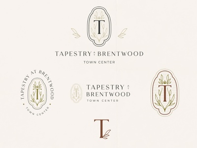 Tapestry at Brentwood eclectic rustic charming southern badges badge design brand identity badge typography logo design branding
