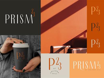 Prism 23 student housing community student edgy eclectic icon design modern brand identity badge typography logo design branding