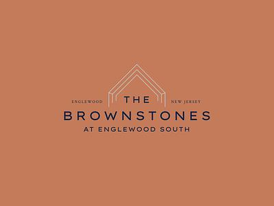 The Brownstones brownstone apartment townhome community sans serif modern classic brand identity typography logo design branding