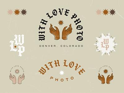 With Love Photo grunge love photographer blackletter illustration badge design badge brand identity logo typography design branding