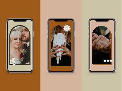 With Love Photo IG Story Templates social media social mockup vector template design photography blackletter design branding