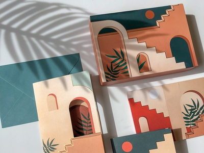 Staircases & Archways Boxed Notes pop-up cards greeting cards paper illustration design