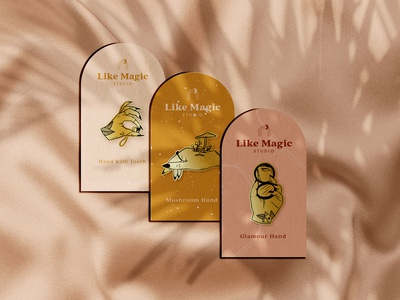 Enamel Pins for Like Magic Studio