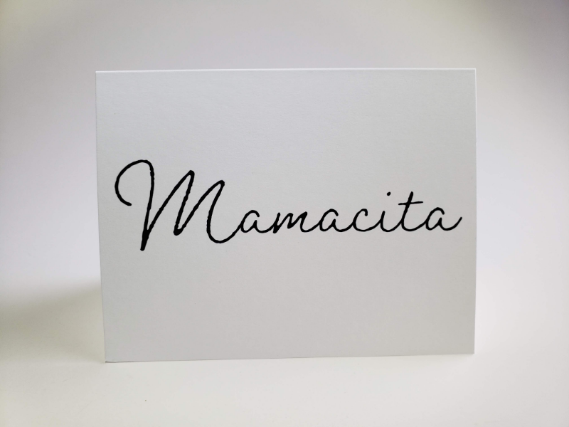 Mamacita greeting card mothers day
