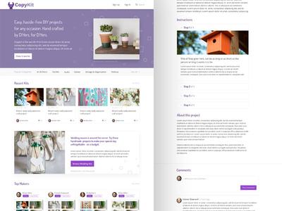 DIYer Platform Design recipe branding diy platform ui design web design website
