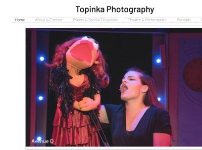 Topinka Photography (Full Website Design)