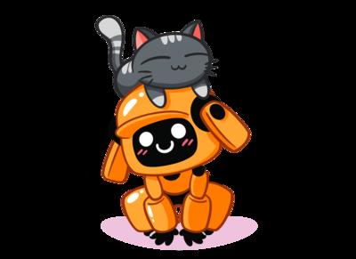 cats love robots