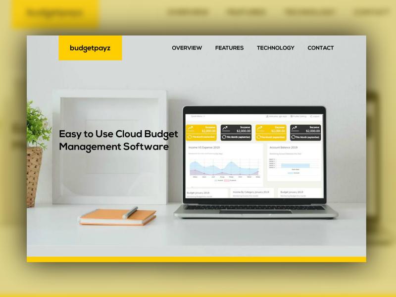 budgeting site onepage design ui websitie web onepage budgeting budget