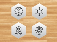 Icon Set for Basketball Non-Profit