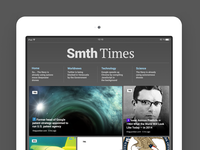 Design for some iPad news app