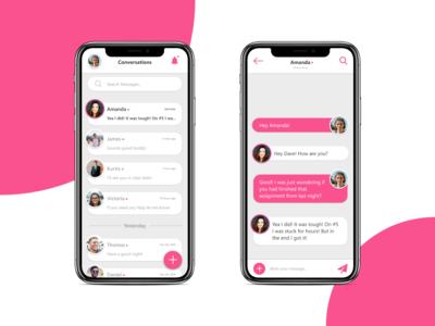 Daily UI 013: Messaging App