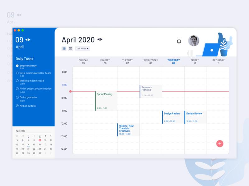 Desktop Calendar Concept