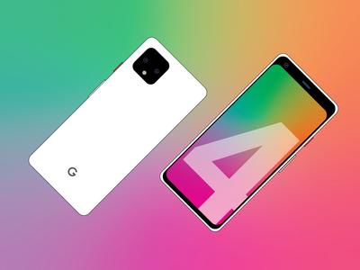 Pixel 4 Design Flat Art