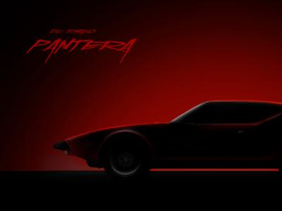 De Tomaso Pantera car illustration red tomaso pantera