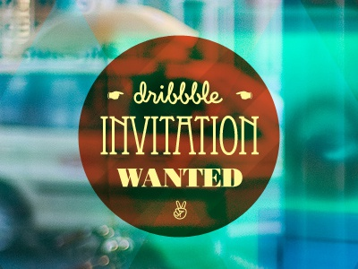 Dribble invitation wanted vintage retro typography old