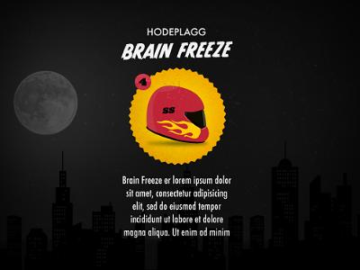 Brain Freeze icon illustration badge typography