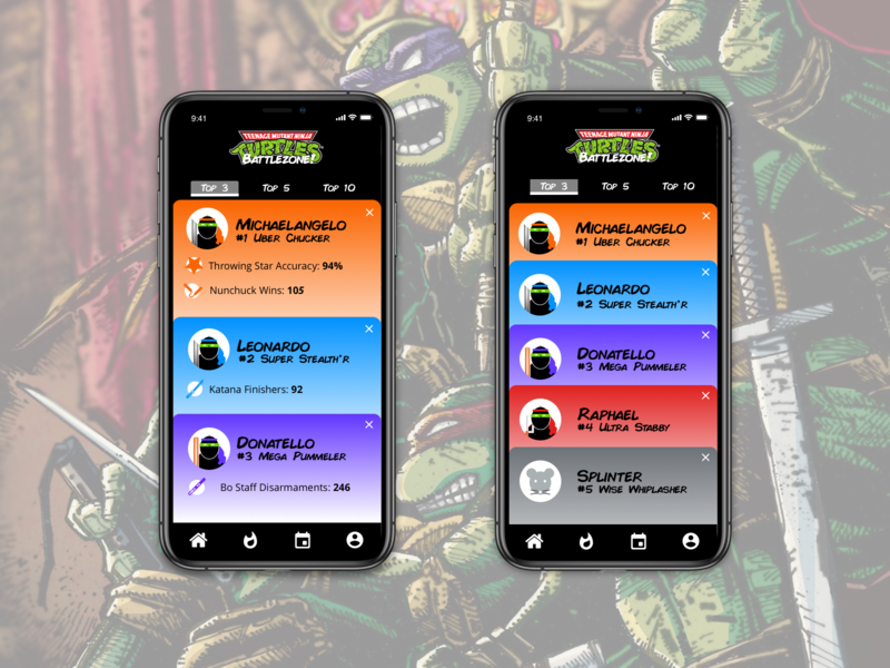 Daily UI Challenge -  Leaderboard TMNT Game