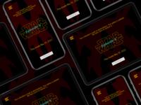 DailyUI Challenge #048 - Coming Soon Star Wars X Page star wars dailyuichallenge uxui ui ux design dailyui