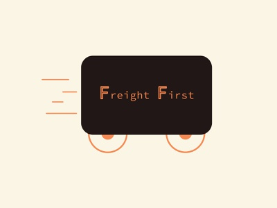 Freight First - 30 Days Challenge #04 truck freight vector art logo design logotype brown logo brown flat icon 30 day logo challenge 30 day challenge logo illustration design vector illustrator