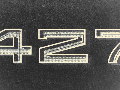 Big Block numbers type camaro muscle car iron detroit retro ill illustration vintage auto