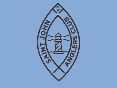 Saint John Anglers Club branding vector design