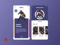 Marvel Character Profile UI Design