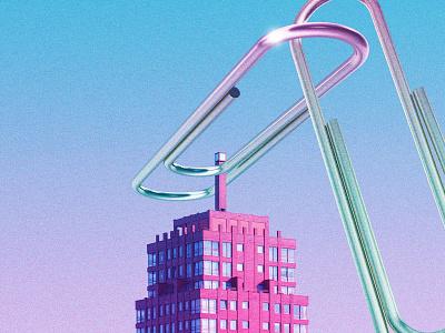 clips neon futuristic futurewave future funk digital art cyberpunk colorful collage chillout 80s