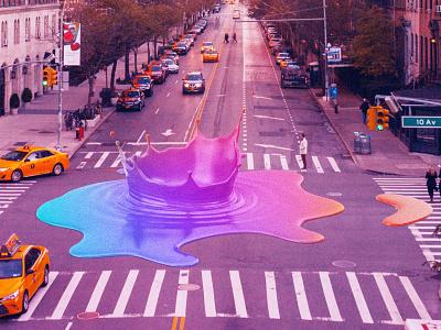Colorful pollution neon futuristic futurewave future funk digital art cyberpunk colorful collage chillout 80s