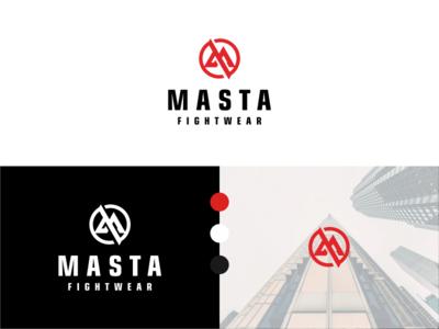 Logo Designs for MASTA geometri logo circle logo red color letter logo logo design sport logo store logo apperal brand brand identity logodesign logo