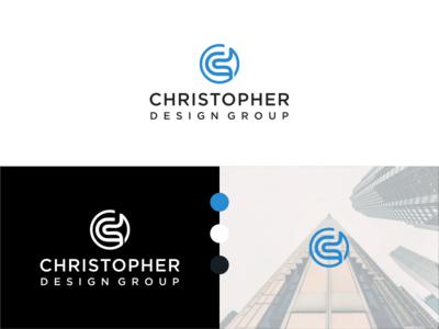 Christopher Design Group Logo simple logo luxuri logo architecture logo modern logo minimalist logo letter logo blue logo consulting logo circle logo brand identity logodesign logo