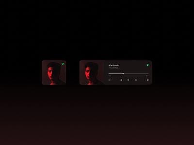 iOS 14 — Spotify Widget ui widget figma spotify minimal dark ios widgetdesign dribbbleweeklywarmup ios14 dashboard mobileappdesign mobileapp interface uidesign app
