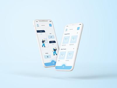 Tresorit Mobile App Concept Design product mobile productdesign uidesign app ui design mobileappdesign mobileapp minimal figma dashboard