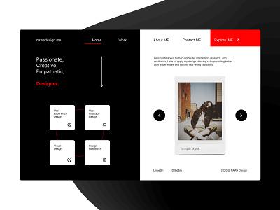 nawadesign.ME – Portfolio Concept Design landingpage blackandwhite personalbrand branding webdesign productdesign minimal visualdesign uidesign redesign portfolio figma
