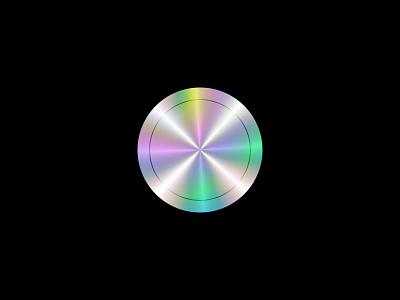 Holographic Effect Disc dark rainbow effect futuristic colorful gradient design holographic figma