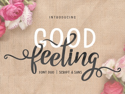 Good Feeling Script Font