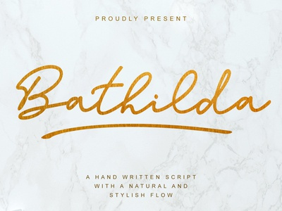 Bathilda Monoline Script Font