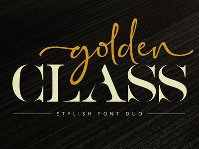 Golden Class Font Duo (Script & Serif)