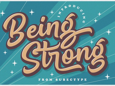 Being Strong Layered Bold Script Font