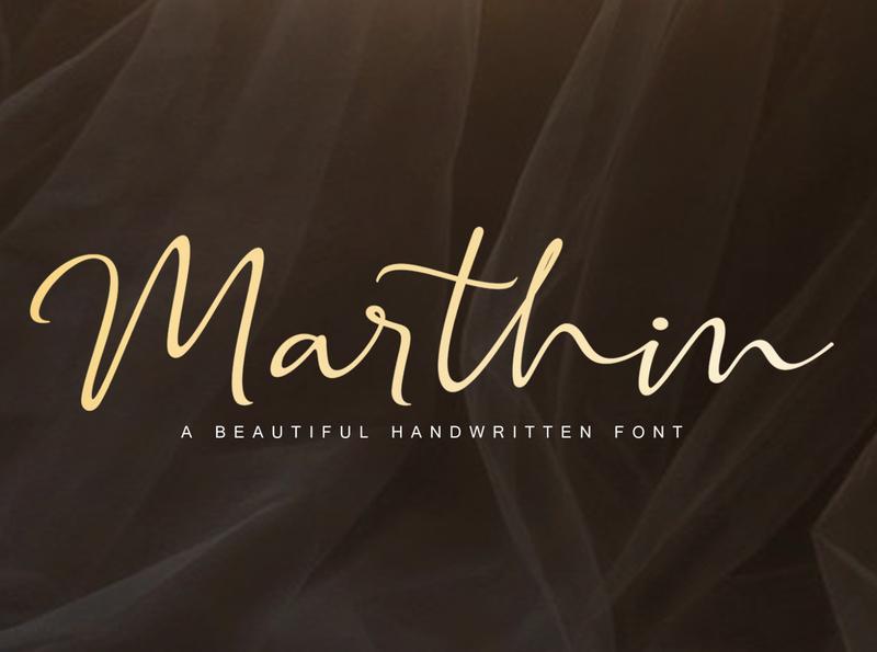 Marthin Handwritten Font moderncalligraphy calligraphy handwritting boldfont handwritten signaturefont signature script lettering handlettering